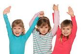 Grupo de tres niñas pequeñas — Foto de Stock