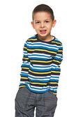Fashion little boy in striped shirt — Stock Photo