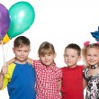 Children celebrate a birthday — Stock Photo