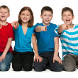 Laughing children on the floor — Stock Photo