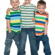 Stock Photo: Three fashion little boys