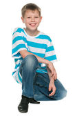 Portrait of a cheerful blond boy — Stock Photo