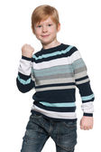 Success of a young boy — Stock Photo