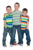мода три маленьких мальчиков — Стоковое фото