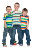 Drie mode jongetjes — Stockfoto