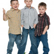 Three happy young boys - Stock Photo