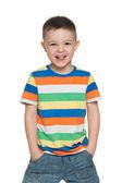 Happy preschool boy — Stock Photo