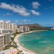 Stock Photo: Scenic view of Waikiki Beach in summer