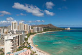 Scenic view of Waikiki Beach in summer — Stock Photo
