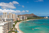 Scenic view of Waikiki Beach — Stock Photo