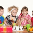 Children celebrate birthday — Stock Photo