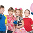 Kids celebrate birthday — Stock Photo