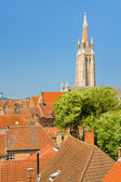 Sunny day in Bruges — Stock Photo