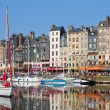Honfleur yachts at the harbour — Stock Photo
