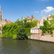 Channel in Bruges — Stock Photo