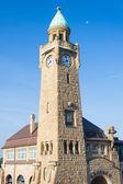 Level tower in Hamburg port — Stock Photo
