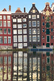 Old houses of Amsterdam — Stock Photo