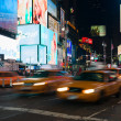 Yellow cabs in Times Square — Foto Stock