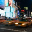 Stock Photo: Yellow cabs in Times Square