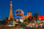 Eiffel Tower in night Las Vegas — Stock Photo