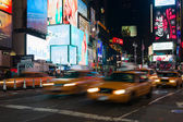 Yellow cabs in Times Square — Stock Photo