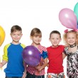 Cheerful children celebrate birthday — Stock Photo