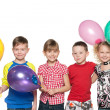 Four kids celebrate birthday — Stock Photo #31012983
