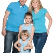 Family together on the white — Stock Photo