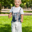 Baby boy stands in the summer park — Stock Photo