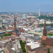 Aerial view of Hamburg — Stock Photo