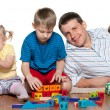 Stock Photo: Family play on floor