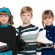 Stock Photo: Children with skates