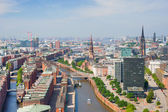 Hamburg and port — Stock Photo