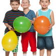 Little boys with balloons — Stock Photo