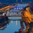 Aerial view on Rouen at night — 图库照片