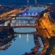 Aerial view on Rouen at night — Foto Stock