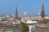 Hamburg in the early evening — Stock Photo