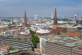Summer day in Hamburg — Stockfoto