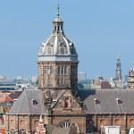 Постер, плакат: Basilica of St Nicholas in Amsterdam city