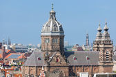 Basilica of St. Nicholas in Amsterdam city — Stock Photo