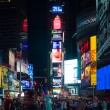 Tourists at night Times Square — Stock Photo