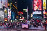 タイムズ ・ スクエアで観光客 — ストック写真