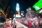 People and guests on night Times Square — Stock Photo