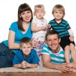 Happy family is together — Stock Photo