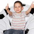Little boy on the big ball — Stock Photo