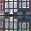 Amsterdam old houses in the evening — Stock Photo