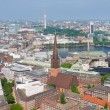 Hamburg under the blue sky — Stok fotoğraf