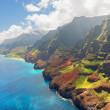 Stock Photo: NPali Coast on Kauai island in summer