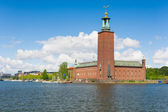 Stockholm City Hall in summer — Stock Photo