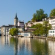Zurich in a summer morning — Stock Photo